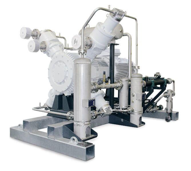 Compresseurs de gaz mixtes