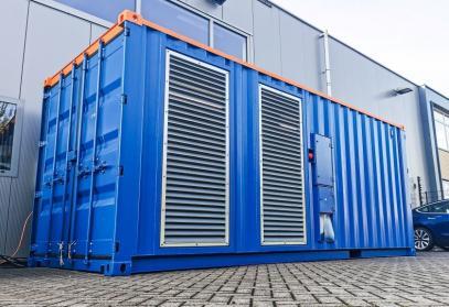 Unieke compressorcontainerunit geschikt voor tropisch klimaat