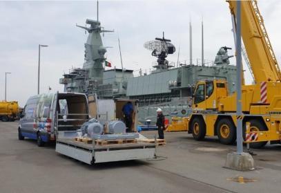 Nieuwe Hoge Druk Compressor Portugees Fregat NRP Bartolomeu Dias